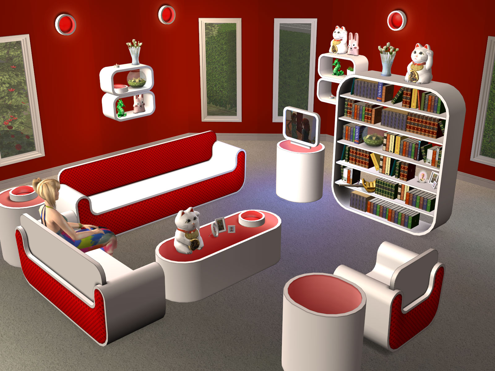 Wonderful image of Parsimonious The Sims 2: Furniture & Objects with #791B11 color and 1600x1200 pixels
