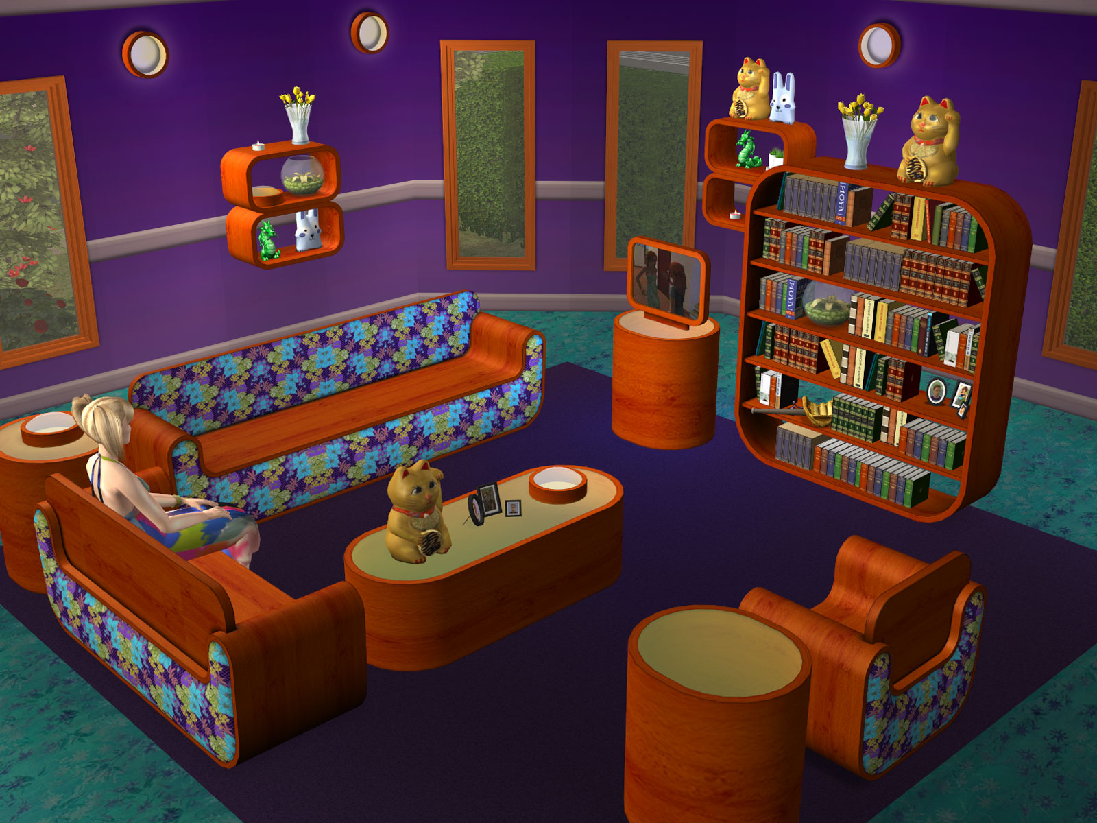 Wonderful image of Parsimonious The Sims 2: Furniture & Objects with #BA4209 color and 1600x1200 pixels