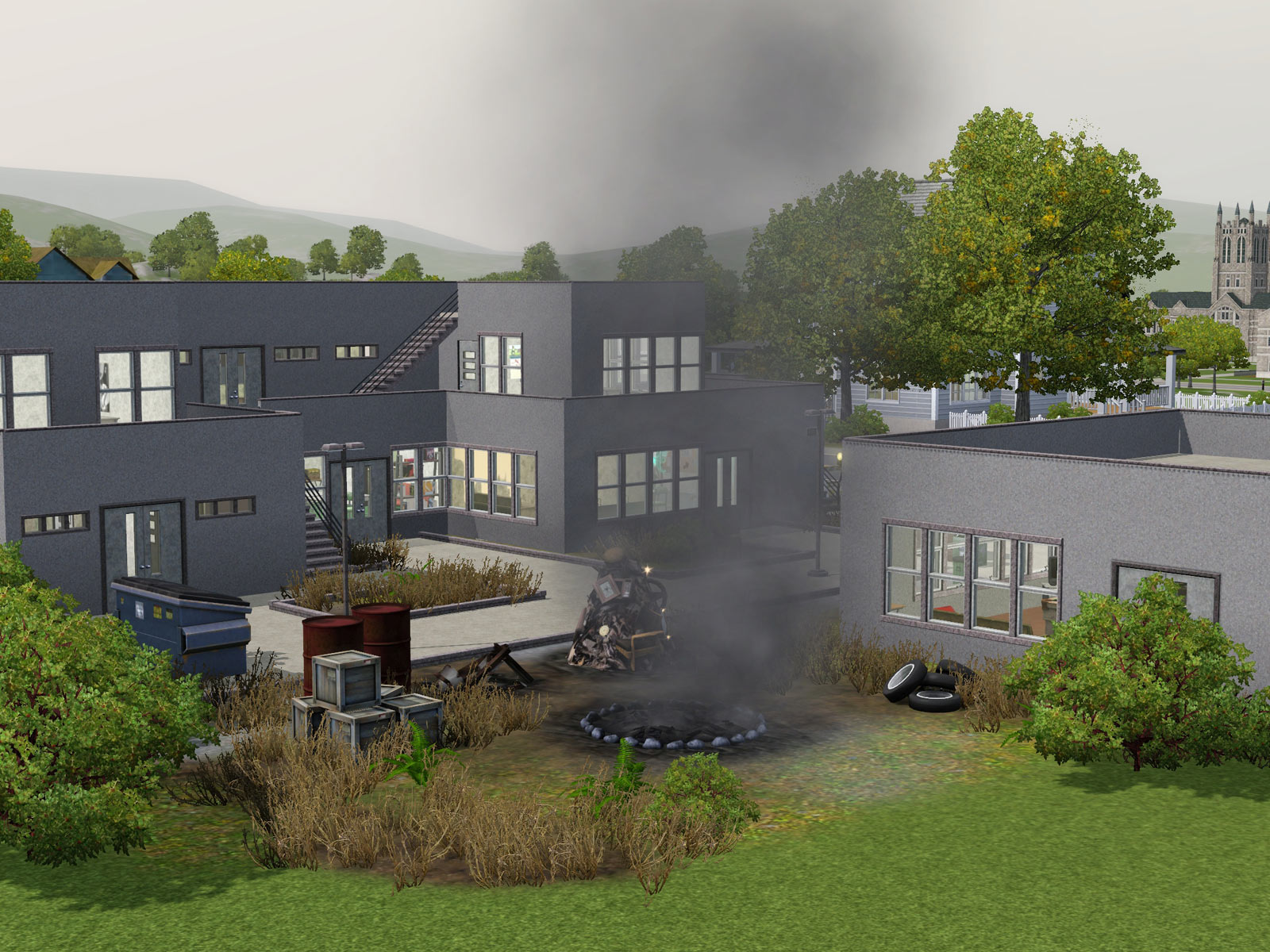 Kate has updated with Down Trodden Dorm in Sims 3 Houses. Parsimonious  The Sims 3